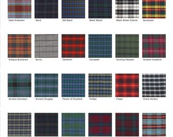Tartan silk dupion -  58 colours - 47  inches wide