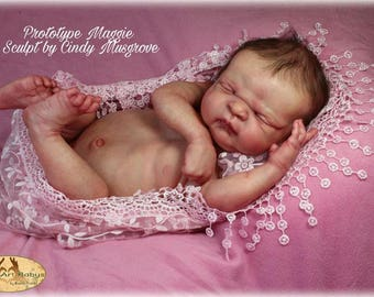 CUSTOM REBORN ~ Maggie / Maddox by Cindy Musgrove ~ Full Body Vinyl Baby ~ 6 month layaway