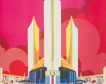 Chicago World's Fair (artist: Pursell) USA c. 1933 - Vintage Poster (Art Print - Multiple Sizes Available)