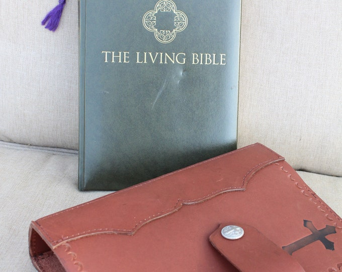 Bible Cover in Hickory Brown Leather