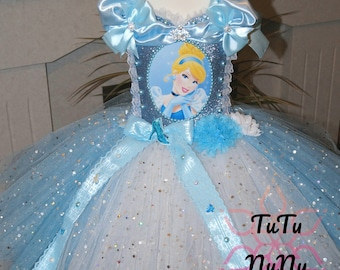 Handmade Girls Cinderella Disney Princess Tutu Dress