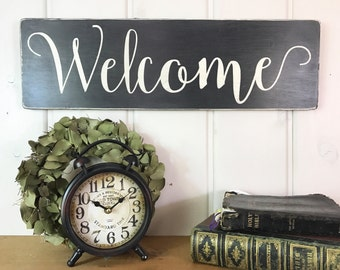"""Wood Welcome sign 