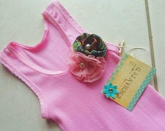 Handmade revamped pink girls dress