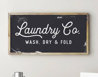 Printable Sign, Laundry Co Sign, Laundry Room Decor, Fixerupper Sign, Fixerupper Decor, Farmhouse Decor, Laundry Co Sign White, Laundry Sign