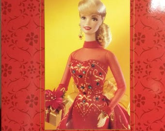 Holiday Gift Porcelain Barbie doll