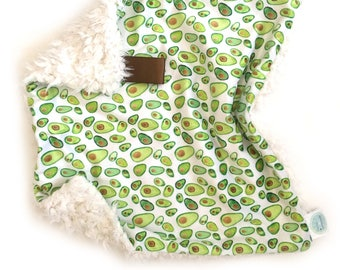 READY TO SHIP, Avocado Lovey, Baby Lovey, Baby Minky Lovey, Neutral colors blanket, Green baby Blanket, Boy Lovey, Girl Lovey, baby lovey