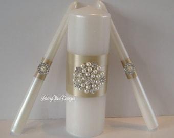 Elegant Unity Candles, Wedding Candles, Wedding Ceremony, Unity Candles Set, Traditional Unity Ceremony, Custom Made