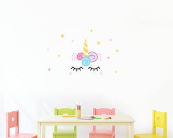 Unicorn Wall Decal - Fabric & Reuseable