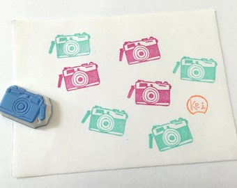 TAKE a SNAP - Hand Carved Rubber Stamps/Camera/Classic/Selfie/Photos/Schedule Stamp