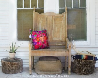 Guatemalan Embroidered Pillow Cover, embroidered pillow, pillow cover, Mexican pillow case, boho pillow cover, bohemian pillow cover