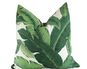 Housse de coussin feuilles palmier