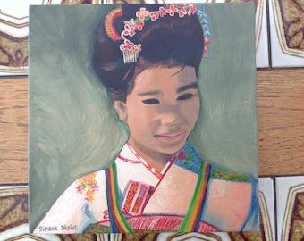 Geisha Girl artwork painting original