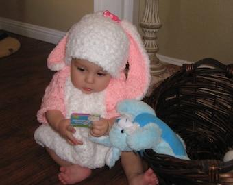 Crochet Girls Bunny Costume