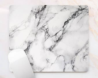 Marble Mousepad White Marble Print Mouse Mat Mouse Pad Office Mousemat Mousepads with Design Desk accessory Office Gift 3