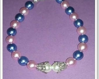Bracelet with mother of Pearl Blue Pearl