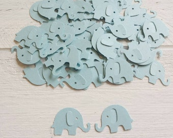 50 Light Blue Elephant Confetti-1 Inch-Scrapbooking-Gift Wrapping-Embellishments-Baby Boy-Shower-Birthday Party-Punches