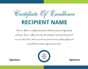 Buy this certificate and Get Custom Certificate Design Digital Download