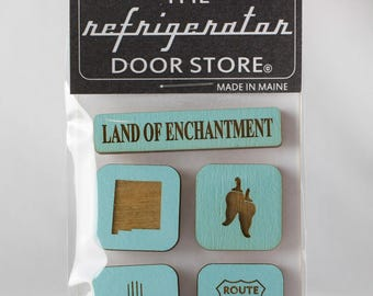 Housewarming gift. Refrigerator Magnet. Fridge Magnets. Kitchen Magnets. Magnets. Land of Enchantment. New Mexico.