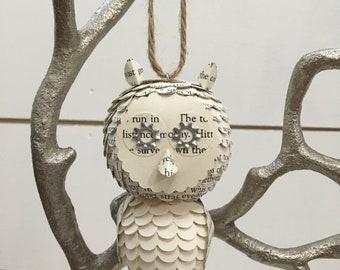 Paper Owl Ornament