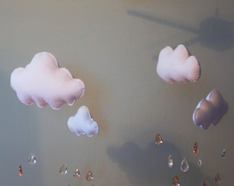 Rain Cloud Mobile Pink