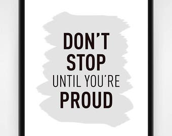 PRINTABLE, office wall art, wall decor, inspirational wall art, inspirational decor, office wall decor, proud work print, 16x20 or 8x10 in