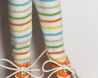 Rainbow Primary Striped Tights...For Blythe...