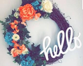 Hello Springtime Wreath