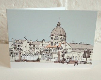 Seaside card - 'The Dome, Worthing' greetings card