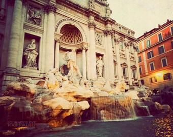 Rome photography, Italy art, Trevi Fountain, fine art photograph, Rome photo, retro print - Return to Me