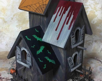 Halloween decor Bird House
