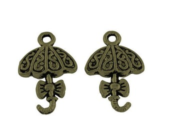 Set of 2 bronze charms - 20 x 13 (BR003)