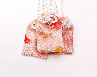 Omamori - Handmade Japanese Lucky Charm with an Omikuji (A fortune slip)