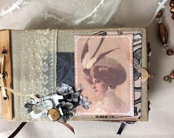 """Scrapbooking junk journal album """"my grandmother's notebook"""""""