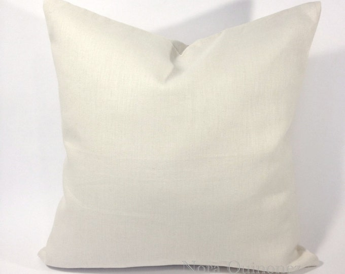 Decorative Throw Pillow Cover -Medium Weight Linen Or Canvas Cotton - Invisible Zipper Closure- Cushion Cover
