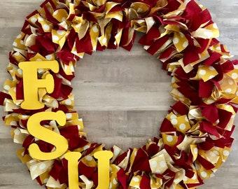 Polka Dot FSU Wreath