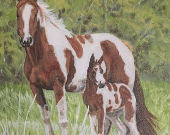 """Family is a 8""""x10"""" original oil painting on stretched canvas. Unframed."""