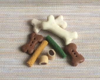 Dolls House Miniature Dog Bones and Treats- handmade