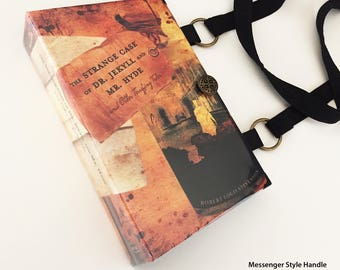 Dr Jekyll and Mr Hyde Recycled Book Purse - Halloween Book Clutch - Book Cover Handbag - Doctor Jeykell Literary Gift - Mr Hyde Handbag