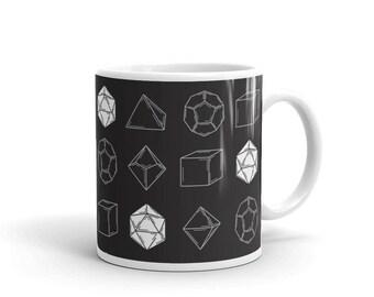 Dungeons and Dragons D20 Dice Set Mug