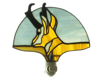 Stained Glass Antelope Night Light