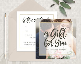 Photography Gift Certificate Template, Photography Gift Certificate, Photography Gift Card Template, INSTANT DOWNLOAD, Photoshop Template