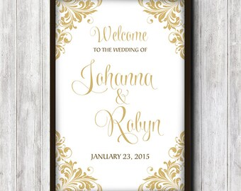 """Wedding Welcome Sign Printable 