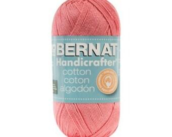 Bernat Handicrafter Cotton Ultrasoft Yarn Strawberry Shortcake Color