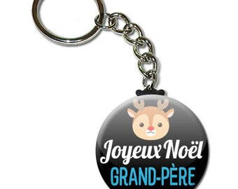 Merry Christmas Grandpa key chain 38mm (Christmas gift idea)