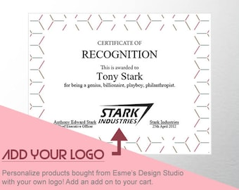 ADD ON: Personalize Templates with Your Own Logo!