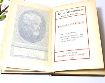 Antique Book Little Masterpieces Thomas Carlyle 1903