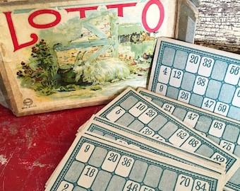 5 Vintage Lotto Cards