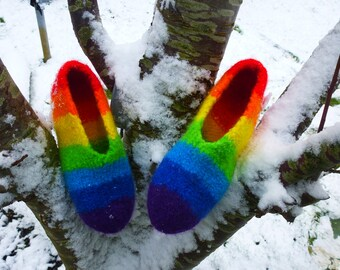 Rainbow Felt shoes gr. 29/30
