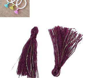 20 charms 25mm - purple-SC64859 Polyester fringe tassels-