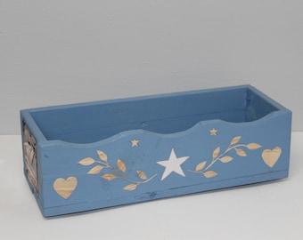 Blue Handmade Garden Box